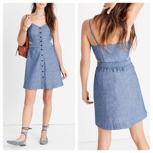 Madewell chambray denim cutout dress M 8